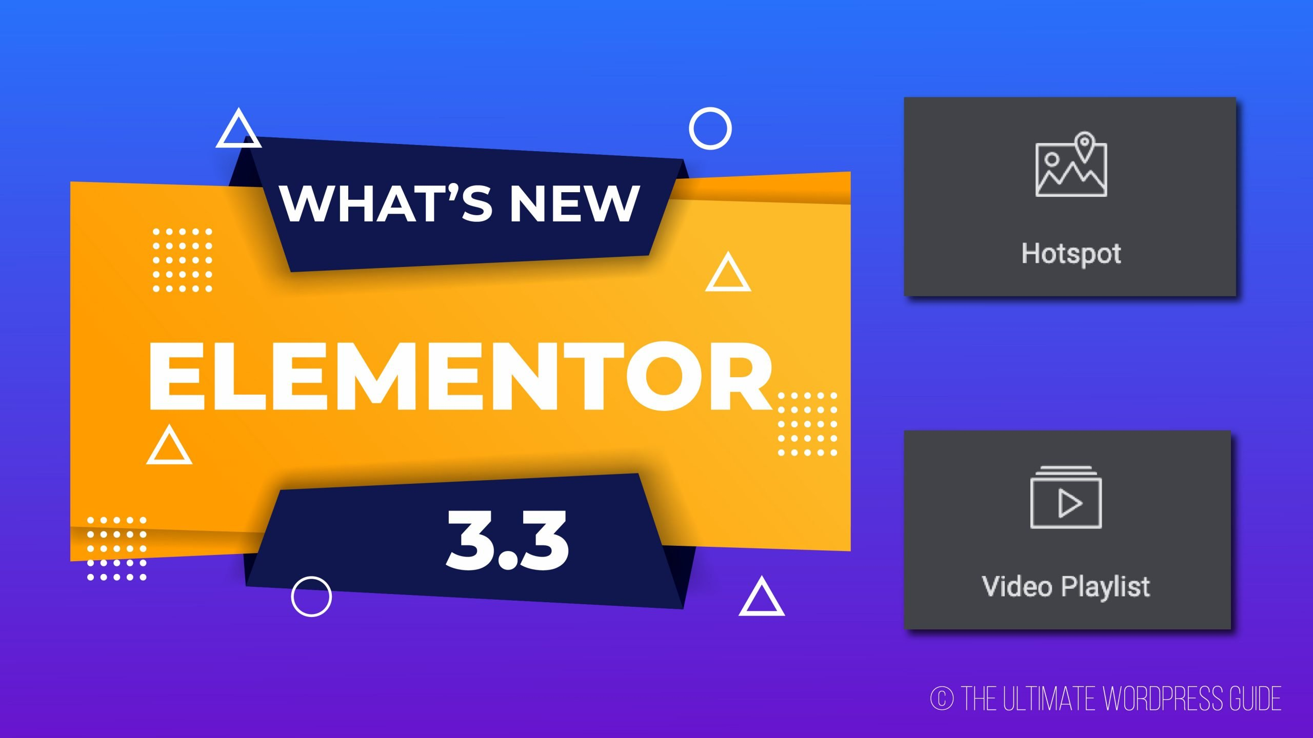 What's New is Elementor 3.3