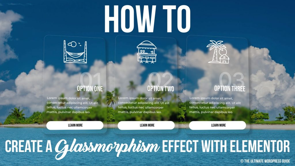 Create a Glassmorphism effect with Elementor