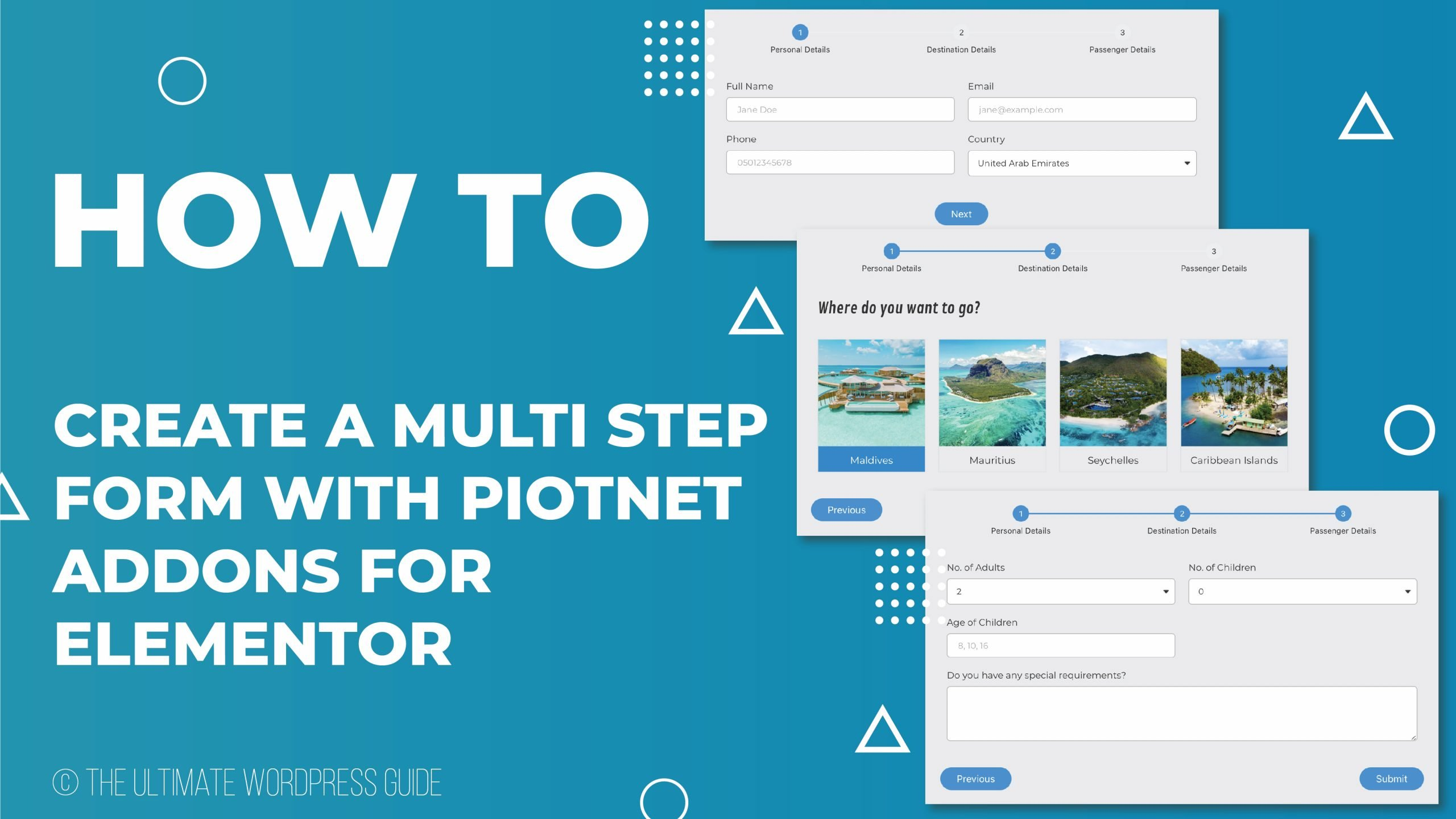 Create a Multi Step form with Piotnet Addons for Elementor