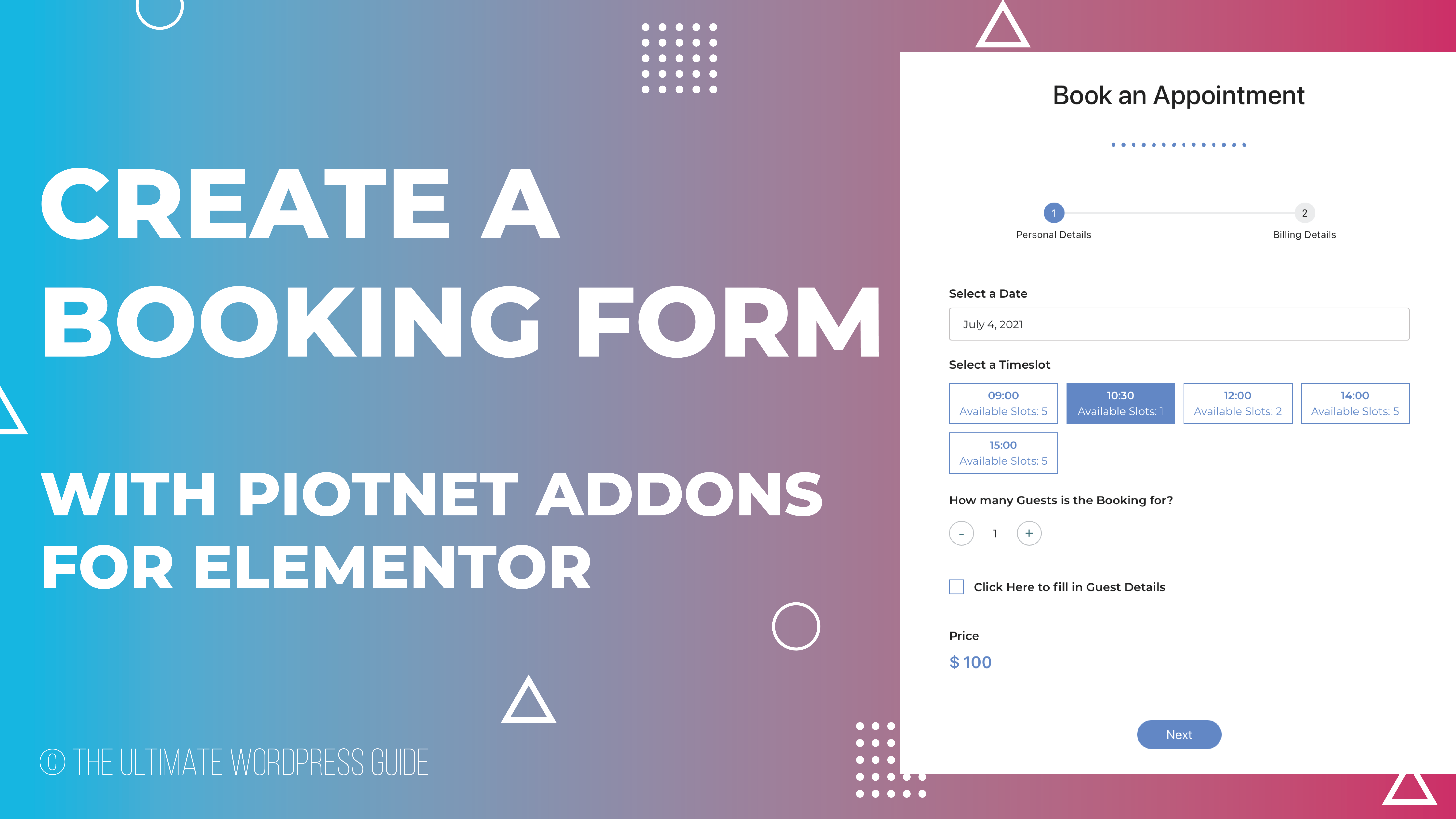 Create an Appointment Booking Form with PAFE
